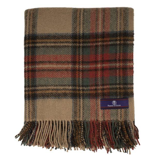 tartan antique blanket folded