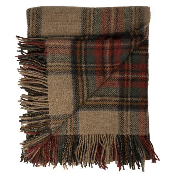 Tartan antique blanket folded view