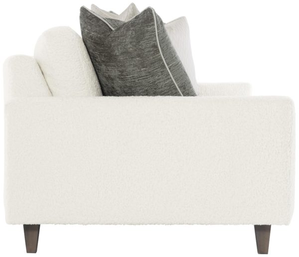 Ivory bench sofa side view