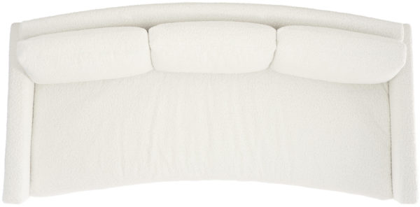 Ivory Bench Sofa top view