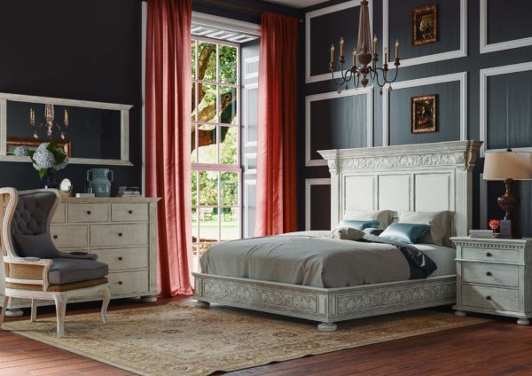 French Country Mahogany Bed