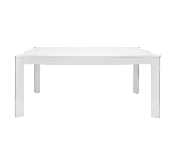 White Lacquer rectangular table straight