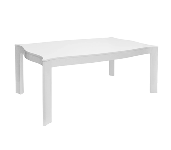 White Lacquer rectangular table Angled