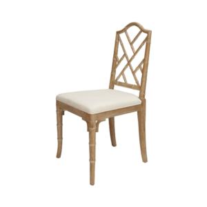 Cerused Oak chair angle