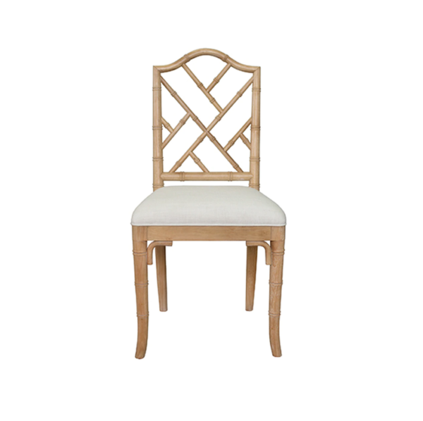 Cerused Oak chair front view