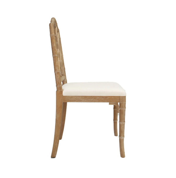 Cerused Oak chair side view