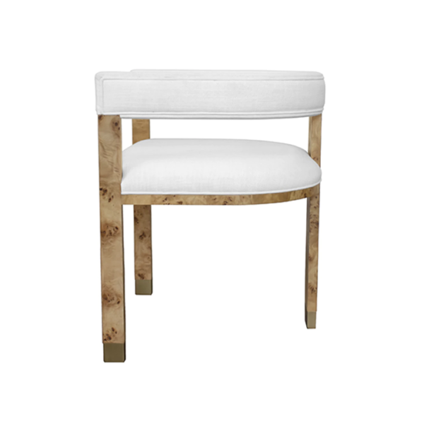 Light Burl wood chair side view