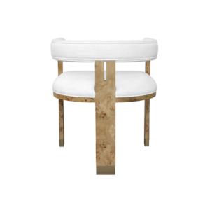 Light Burl wood chair Backside