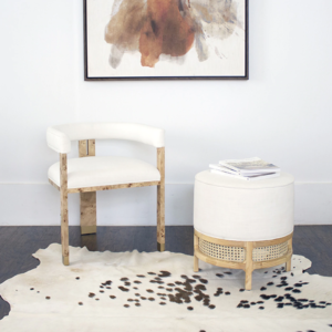 Light Burl wood chair lifestyle
