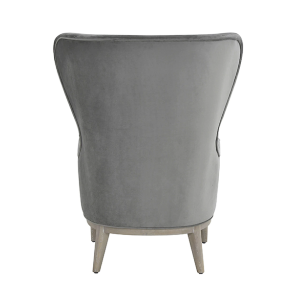 Frisco Grey wing chair back view