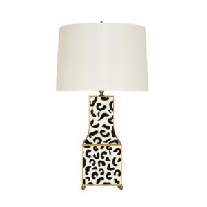 Pagoda table lamp in black leopard