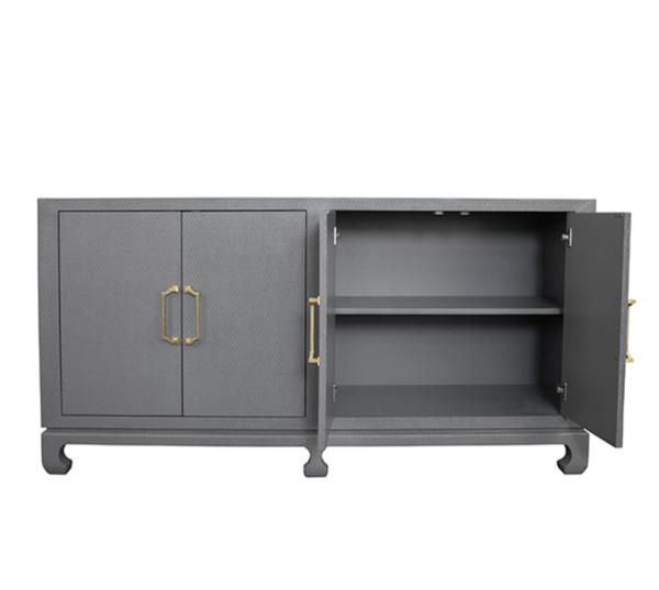 Drayton Gray Cabinet Open door