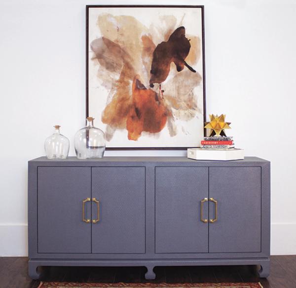 Drayton Gray Cabinet lifestyle view