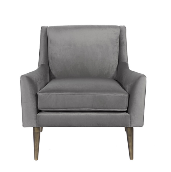 Grey and Bronze Lounge chair front view