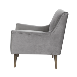 Grey and Bronze Lounge chair side view