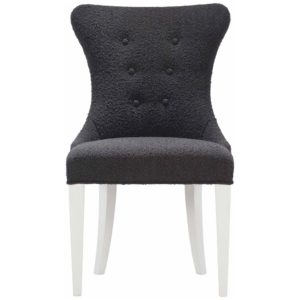 Black Boulce Side chair front view