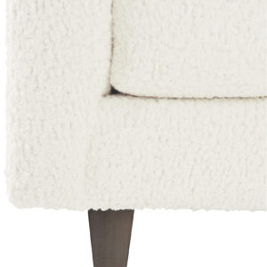 Ivory bench sofa closeup view
