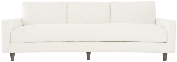Ivory bench sofa front view