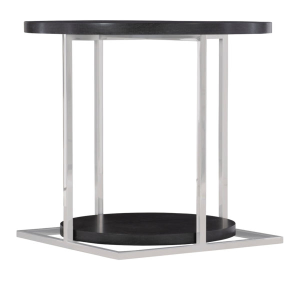 Figured Onyx Side Table angled view