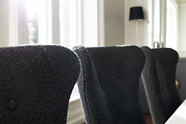 Black Boulce Side chair detail