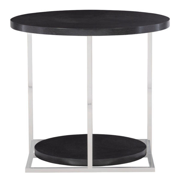 Figured Onyx Side Table front view