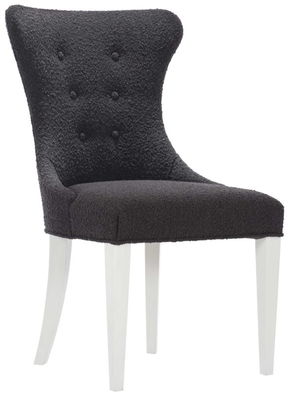 Black Boulce Side chair angle view