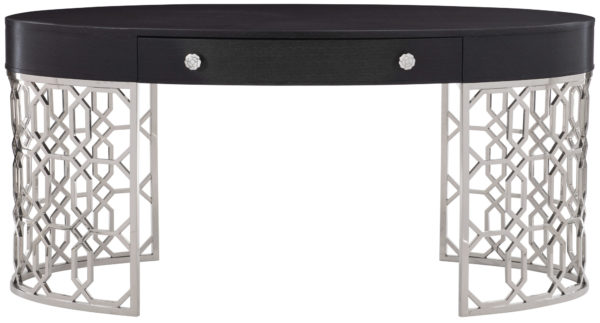 Onyx, stainless desk front view