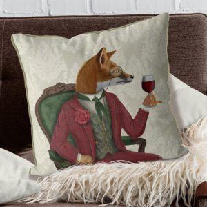 Fox Wine Taster pillow set