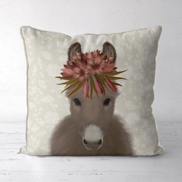 Bohemian Donkey pillow front view
