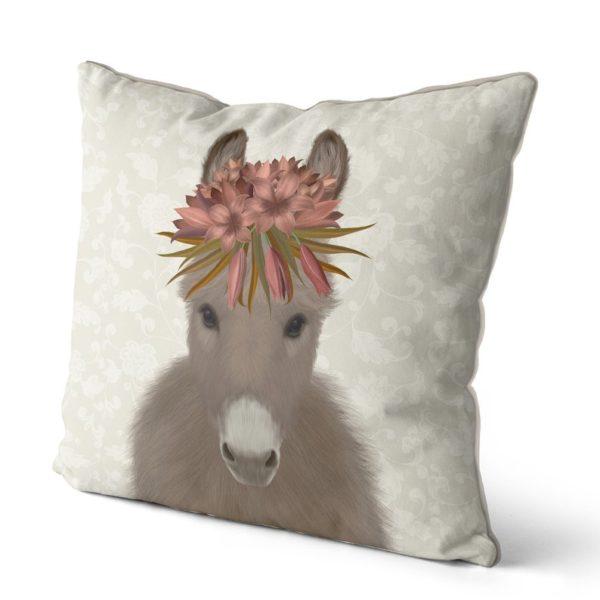 Bohemian Donkey pillow side view