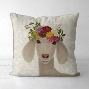 Bohemia Goat Pillow front view