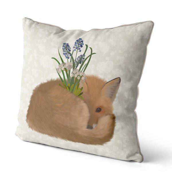 Sleepy Fox pillow side view