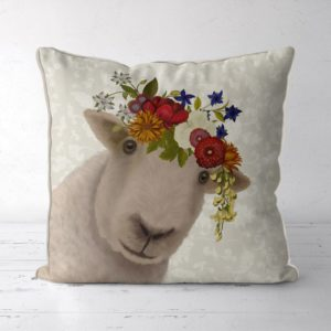 Bohemian Sheep pillow with flower crown